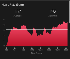 Initial run heart rate